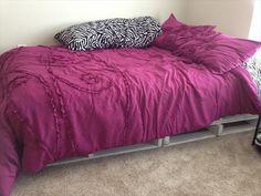 Make a Pallet Bed Frame. - DIY 20 Pallet Bed Frame Ideas | 99 Pallets