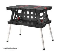 Adjustable Leg Folding Work Table Portable Bench Tools Garage Garden Home DIY #Keter