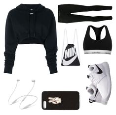 """Gym class"" by gucci-emma ❤ liked on Polyvore featuring Calvin Klein, Off-White, NIKE, Nasty Gal and Beats by Dr. Dre"