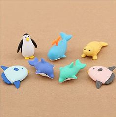 Iwako erasers marine animals 7 pieces set