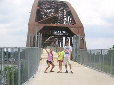 The kids this summer on the Clinton bridge in Little Rock