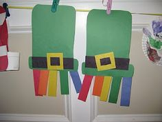 Rainbows & Hats - St. Patrick's Day Art Project For Small Children!