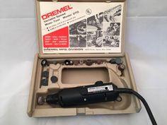 Dremel Variable Speed Moto Tool Model 370 vintage works great several heads orig  | eBay