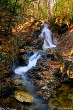 Waterfall near Pic Johannsen in Mont Tremblant park, Quebec. O Canada, Canada Travel, Alberta Canada, Yellowstone National Park, National Parks, Oh The Places You'll Go, Places To Visit, Beautiful World, Beautiful Places