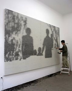 Family, 2009 , installation with tea leaves by Changwon Lee