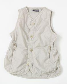 ナイロンキルトベスト Tailored Shirts, Gilets, Detail, Womens Fashion, Outfits, Tops, Easy, Style, Jackets