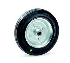 Das ESD-Rad (Electrostatic Discharge) dient der Unterbindung statischer Aufladung. Der Anlaufwiderstand und die Laufgeräusche sind gering. Die Bereifung ist gut geeignet bei leichten und mittleren Tragkräften. >> Fazit: spezielle Bereifung zur Unterbindung von sttischer Aufladung (ideal in Kombination mit einem Transportgerät mit einer speziellen Beschichtung mit einem hohen Eisenanteil)