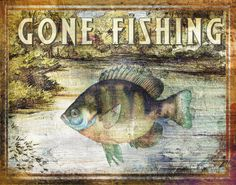 vintage fishing posters | Gone Fishing Posters by Paul Brent - AllPosters.co.uk