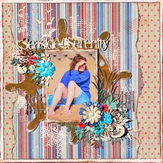 Mixed Media Layout using the Beach Bliss Collection