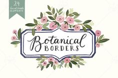 Botanical Frames by Anchor Point Paper Co. on @creativemarket