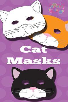 Black Cat Mask Pattern Template