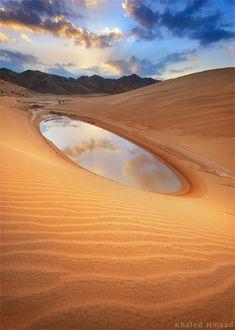 Reflection in a desert, Al Mqrah, Umm Lijj, Saudi Arabia by Khaled Hmaad