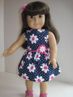 American Girl Doll Clothes Cute Flowered Spring von GirlSewChic, $10,00