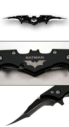 The Batman Twin Blade Batarang Style Pocket Knife is made from high grade stainless steel and held together using well secured bolts. GetdatGadget.com