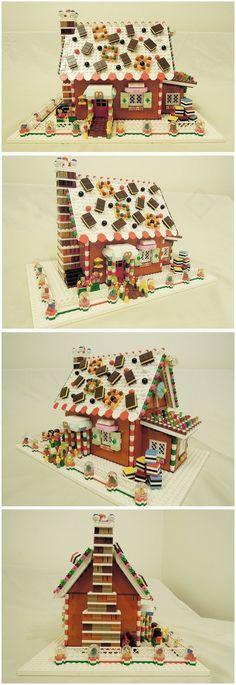 Lego jingerbread house