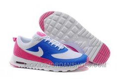 Buy Womens Nike Air Max Thea Running Shoes Royal Blue/White/Pink TopDeals from Reliable Womens Nike Air Max Thea Running Shoes Royal Blue/White/Pink TopDeals suppliers. Nike Air Max White, Cheap Nike Air Max, Nike Air Max For Women, Nike Women, Nike Shox Shoes, New Jordans Shoes, Air Max Thea, Air Max Nike Mujer, Basket Pas Cher