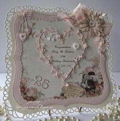 pamscrafts: Silver Wedding card