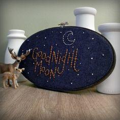 goodnight moon embroidery hoop