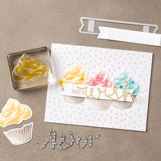 Sweet Cupcake, Cupcake Cutout Framelits dies by Stampin' Up!