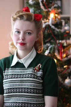 Johanna Öst's charming fantastic Christmas look. #vintage #style #women #bloggers #Christmas