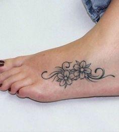 Small Flower Tattoos on Girl& Feet . Small Flower Tattoos on Girl& Feet … Small Flower Tattoos on Girl& Feet Foot Tattoos Girls, Small Foot Tattoos, Foot Tattoos For Women, Tattoo Girls, Cute Foot Tattoos, Tattoo Small, Faith Foot Tattoos, Matching Tattoos, Tribal Flower Tattoos