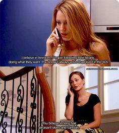 gossip girl. Bahaha Blair and Serena
