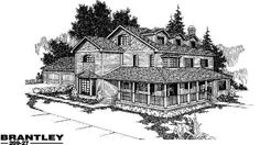 Country House Plans - Home Design Brantley # 3374