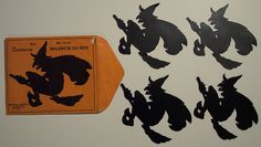 Vintage Halloween Ephemera ~ Dennison's Hallowe'en Witch Cutouts