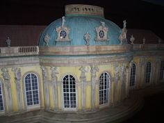 Miniature Sans Souci House by Mulvany and Rogers at Berlin's Arikalex Miniature Museum.
