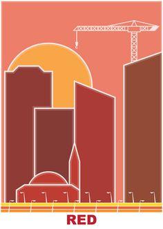 Red - city (RGB series)