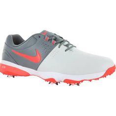 Nike Air Rival Golf Shoes - Pure Platinum/White/Bright Crimson