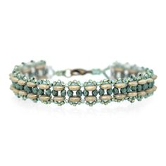 Free PDF tutorial -11 seed bead, lentil bead and 3mm fire polished bead - Stepping Stones Bracelet