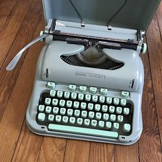 Hey, I found this really awesome Etsy listing at https://www.etsy.com/listing/525659423/vintage-1960s-typewriter-hermes-3000-sea