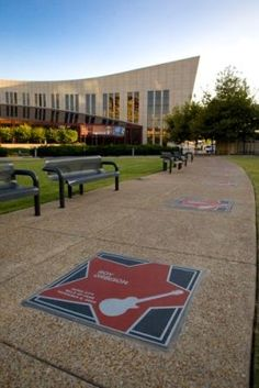 Nashville's Walk of Fame in front of the Country Music Hall of Fame.