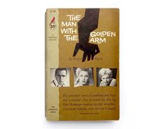"""Saul Bass book cover design, 1956. """"The Man With the Golden Arm"""" by Nelson Algren by NewDocuments on Etsy"""