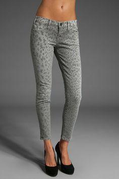 Current/Elliott The Stiletto Leopard Print Pants