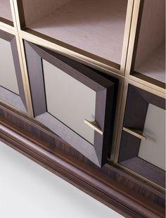 Agatha O I modular book case detail. Modular Furniture, Sofa Furniture, Furniture Design, Modern Villa Design, Modern Interior Design, Custom Interior Doors, Joinery Details, Wall Decor Design, Panelling