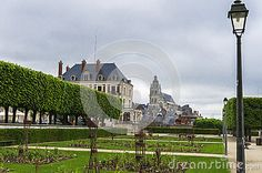 In the park of Blois castle. France
