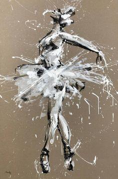 Ballerina No. Series VIII Painting by Mario Henrique Ballerina Painting, Ballerina Art, Ballet Art, Ballerina Photography, Ballet Dance, Abstract Canvas Art, Acrylic Painting Canvas, Canvas Art Prints, Scratchboard Art