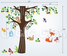 Forest Animals Wall Decals – Baby Nursery Decal – evgieNev