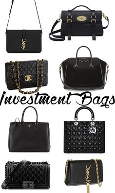 Black Statement Handbags from several luxurious brands