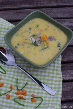 Käse-Lauch Suppe mit Gorgonzola - Katha-kocht!