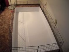 """Most guinea pig owners don't realize that there is another option for a guinea pig cage that is not only cheaper, more comfortable overall for the guinea pig. A step by step tutorial with photos shows how to build a """"C&C"""" cage for a cavy. Diy Guinea Pig Cage, Guinea Pig Hutch, Guinea Pig House, Pet Guinea Pigs, Guinea Pig Care, Guinie Pig, Pig Habitat, Hedgehog Cage, Hedgehog House"""