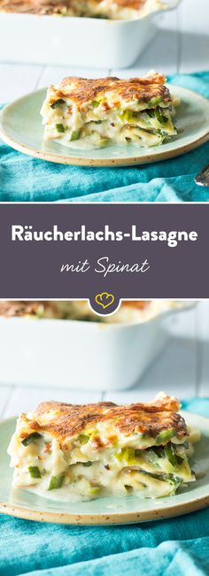 Dieses Exemplar wird mit würzigem Räucherlachs, frischem Pfannengemüse und einer cremigen Béchamel zubereitet - zum Reinsetzen!