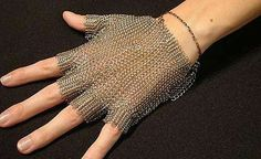 Chainmail glove.