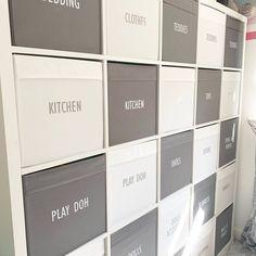 Storage Tubs, Vinyl Storage, Craft Storage, Storage Organization, Personalised Vinyl Stickers, Personalized Labels, Vinyl Labels, Label Stickers, Toy Labels
