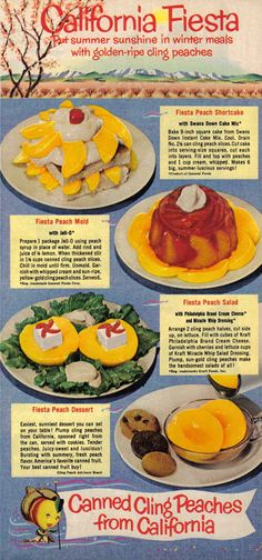 An ad for canned peaches that also involves Miracle Whip, because of course it does.