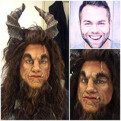 Resultado de imagem para beauty and the beast beast makeup