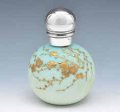 Thomas Webb perfume bottle with gilt design