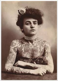 Nora Hildebrandt regarded as America's first professional tattooed lady (1880)